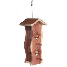 Fågelmatare Dispenser i cedarträ - 12x29x14 cm