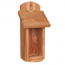 Fågelmatare Dispenser i cedarträ för väggmontering - 14x30x11 cm